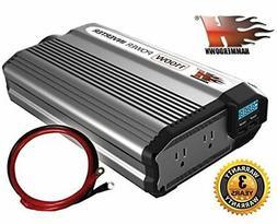 KRIEGER HammerDown 1100 Watt 12V Power Inverter DC 12V to 11