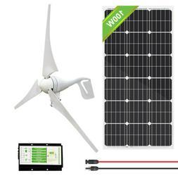 900W Hybrid Kit:400W Wind Turbine Generator & 5*100W Solar P