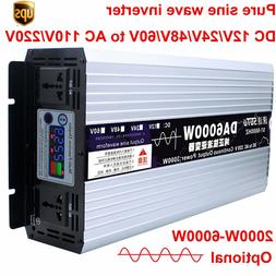 Intelligent Pure Sine Wave Inverter DC 12V24V48V to AC 110V/