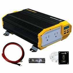 KRIËGER 1100 Watt 12V Power Inverter Dual 110V AC Outlets,