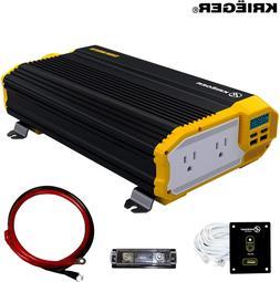 Krieger 1500 Watts Power Inverter 12V to 110V Dual 110 Volt