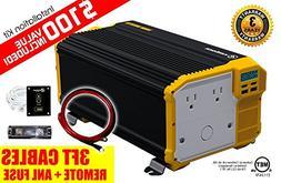KRIËGER 4000 Watt 12V Power Inverter, Dual 110V AC outlets,