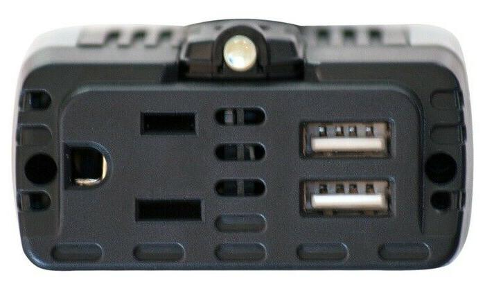 100 Watt Car Inverter 12V 110V AC with and 1.0A Ports.