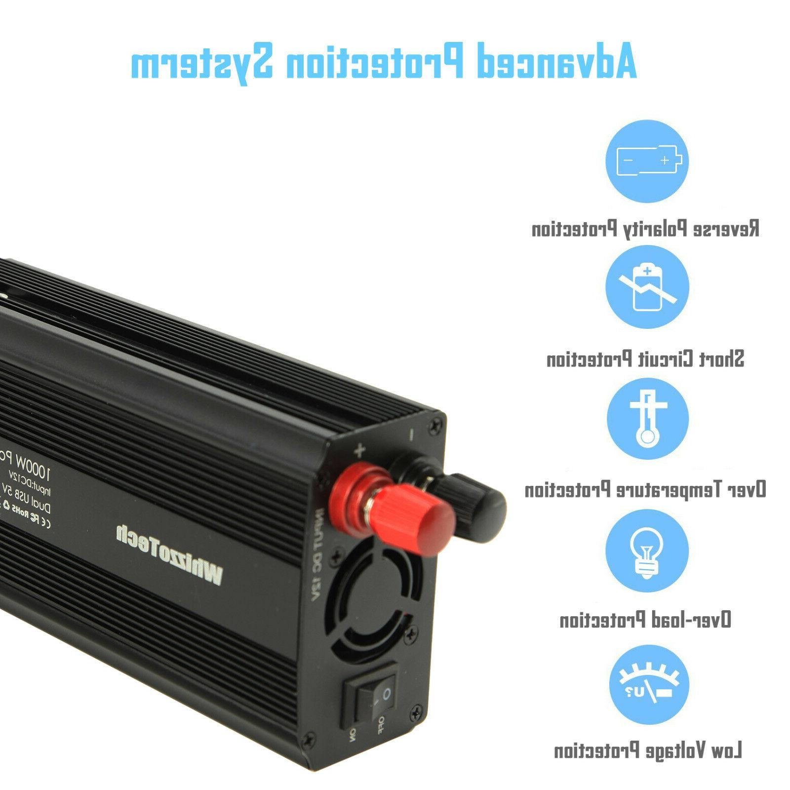 1000W 2000W Power Inverter AC 110V Outlets RV