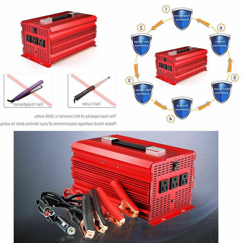 12V DC to 110V BESTEK 2000W/4600 Inverter
