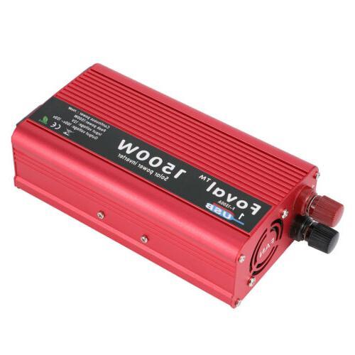 1500W Sine Power Peak DV12V to 110V LCD USB