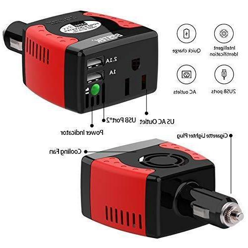 BESTEK Car Power Inverter DC to AC Short Protection