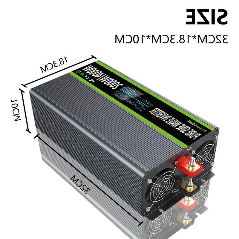 2000W/4000W Pure Power Inverter DC To AC 120V LCD & Control
