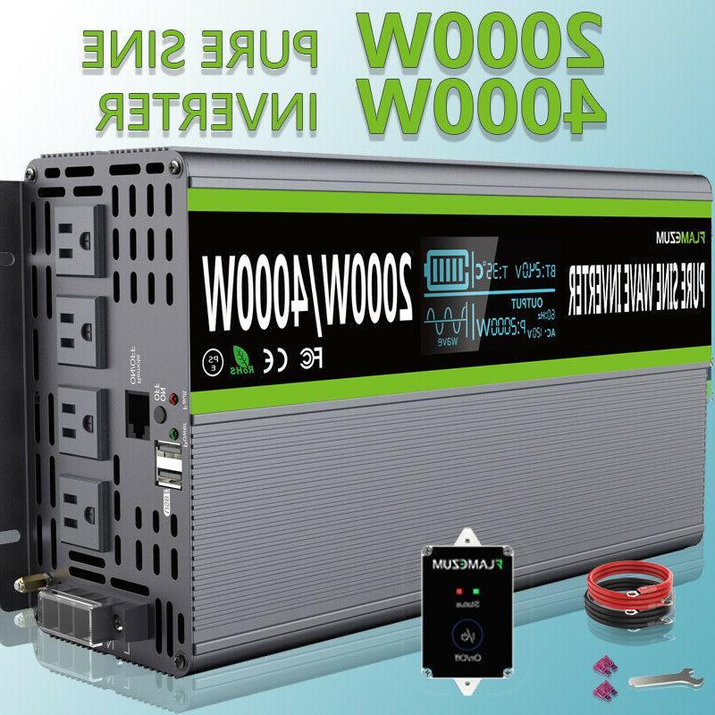2000w 4000w pure sine wave power inverter