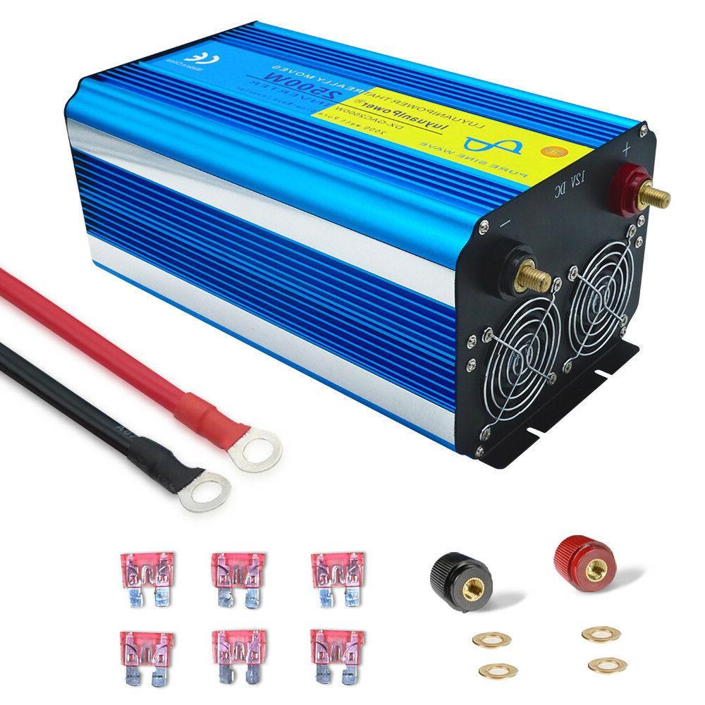 5000W 5000 Inverter Pure Sine 12V dc ac LED NEW