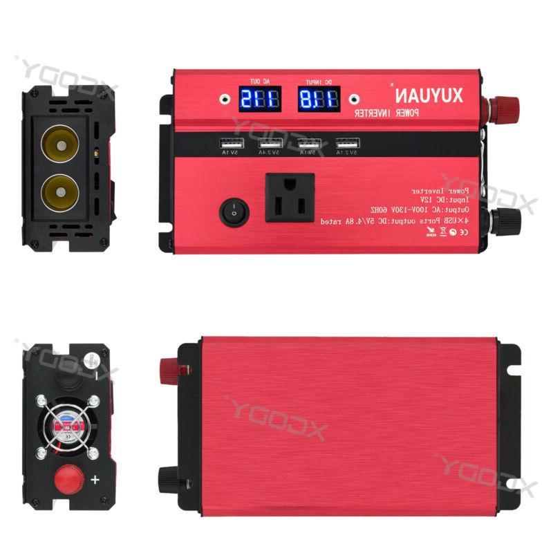 300/3000/5000W Power Inverter 12/24V To 110V/220V