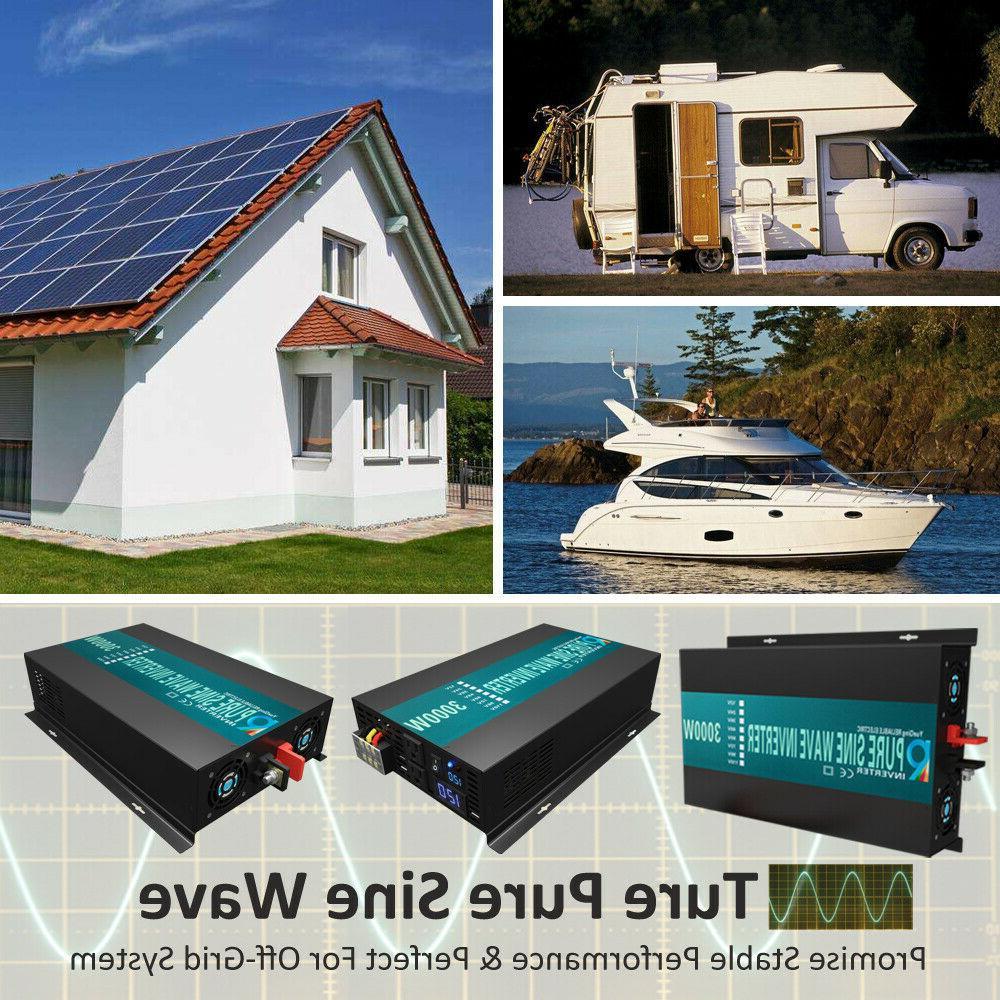 Power Inverter 3000 Watt Pure Sine 12V to 120V Car