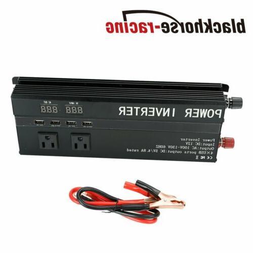 5000W 3000W Car Power Inverter DC 12V To USB