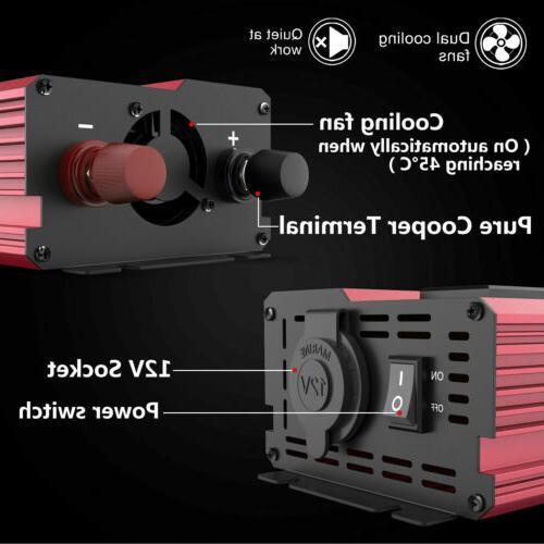12V 110V Solar LCD