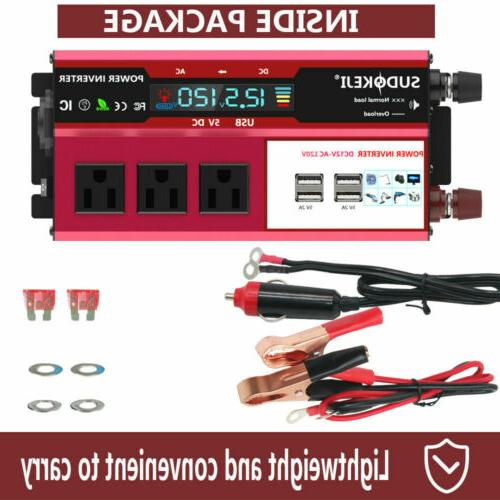 5000W 12V 110V Solar LCD Charger