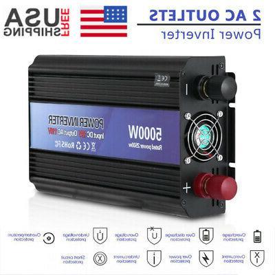 5000W Car Peak 110V AC Outlets Home Solar Converter SS