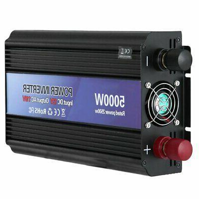 5000W Peak 12V To 110V AC Outlets RV Solar