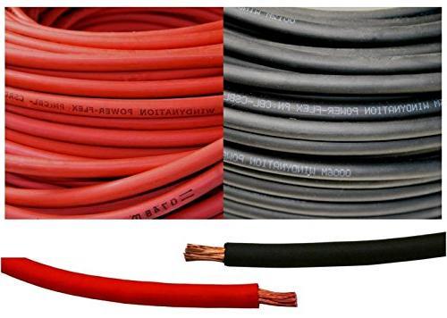4 Gauge 4 AWG 15 Feet Red + 15 Feet Black  Welding Battery P