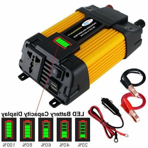 4000/6000W Car Power Inverter DC 12V To AC 110V 2 USB Outlet