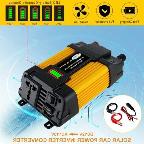 Car Power Inverter 6000W Peak DC 12V To AC 110V Sine Wave US