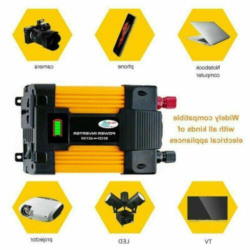 6000W Inverter 12V DC TO 110V AC Car Solar Converter Sine