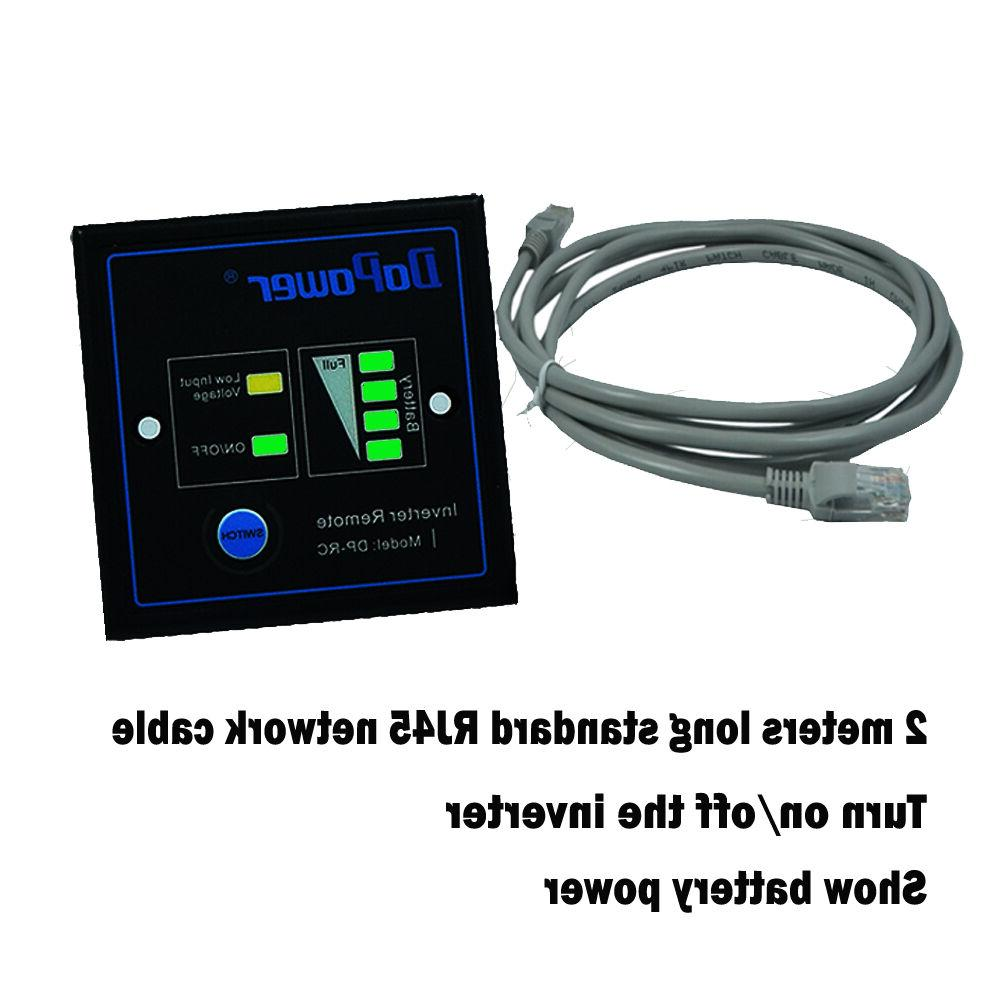 Car Power 4000 Watt to 120V LCD Cables remote