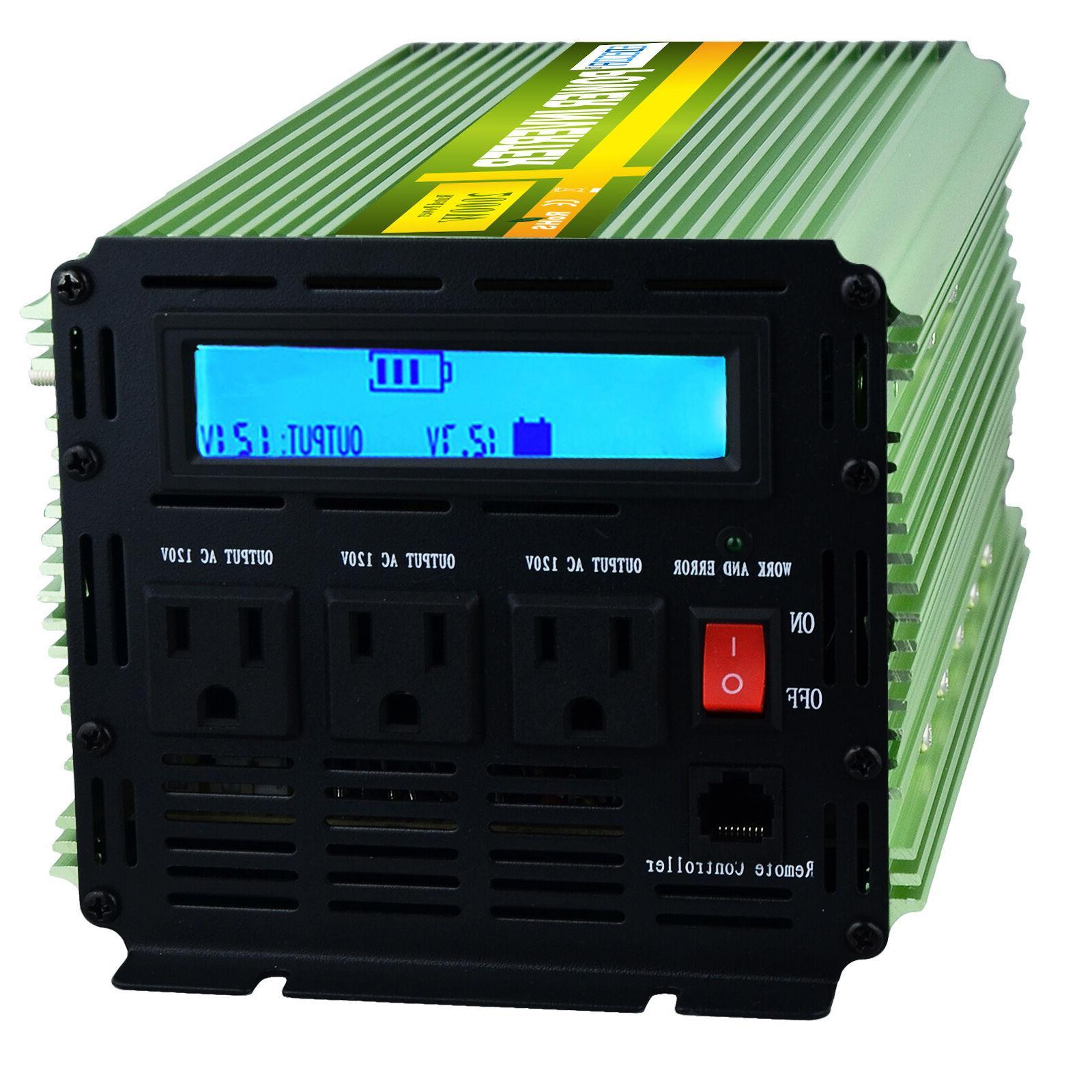 Car Power Inverter 4000 to 120V LCD remote