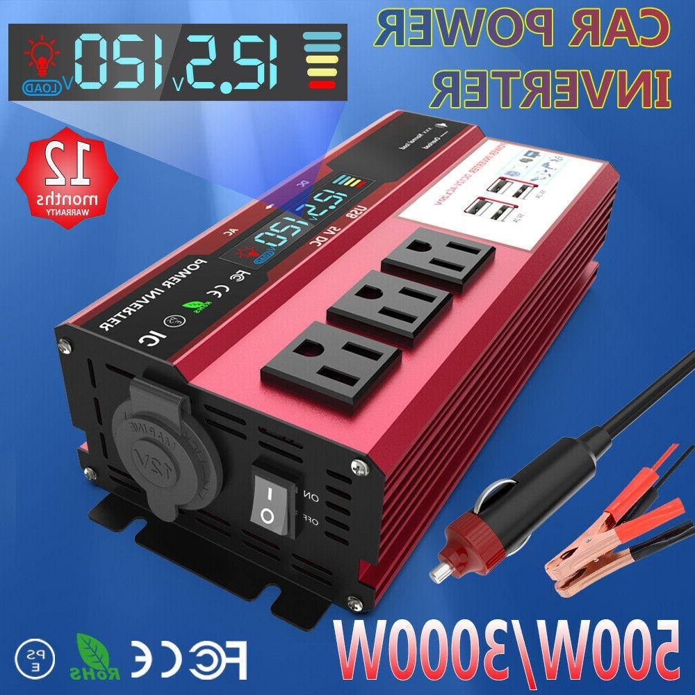 Car Solar Power Inverter 3000W Peak DC 12V To AC 110V 120V C