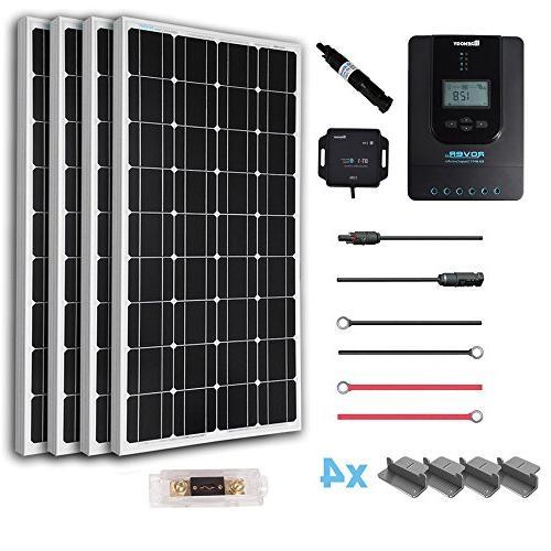 Renogy 400 Watt 12 Volt Off Grid Solar Premium Kit with Mono