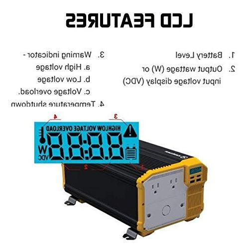 KRIËGER Power AC Car Inverter Up Power Refrigerators, Chainsaws, Vacuums, Power Tools Etc