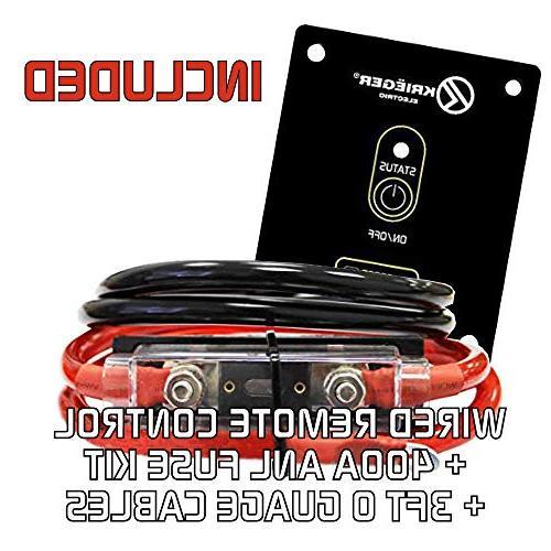 KRIËGER 4000 Watt Power Inverter, Dual 110V AC Automotive Car Inverter Best Appliance Back Up Power Refrigerators, Microwaves, Chainsaws, Power Etc
