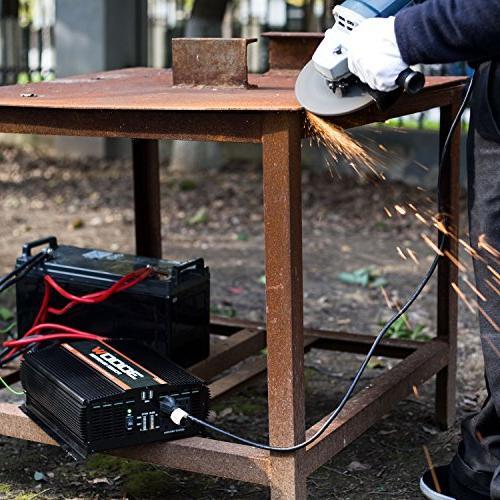 POTEK 3000W Power 4 AC Outlets DC 12V 110V AC Car Inverter with 2 USB