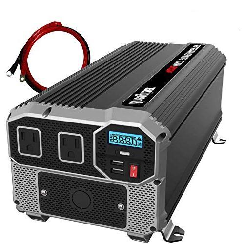 ENERGIZER 4000 Watt 12V Power Inverter, Dual 110V AC Outlets