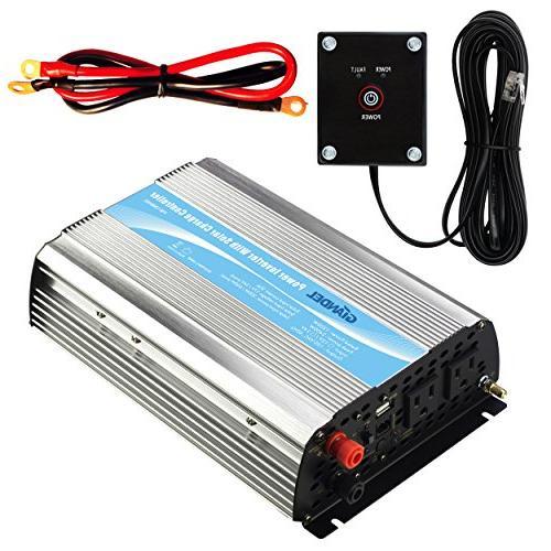 GIANDEL 1200Watt Power Inverter 12V DC to 110V 120V AC with