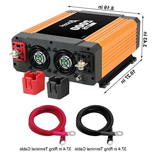 Ampeak Inverter 3 AC Outlets DC 12V 110V Inverter