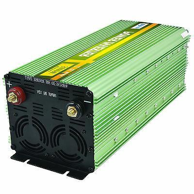 3000 Watt 6000W Inverter 12V DC to 120V AC cables Truck