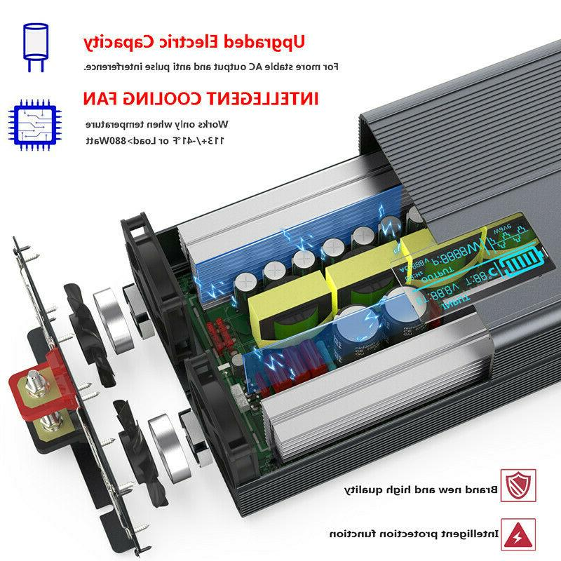 2000W/4000W Pure Sine Wave Power 24V To AC 120V & Control