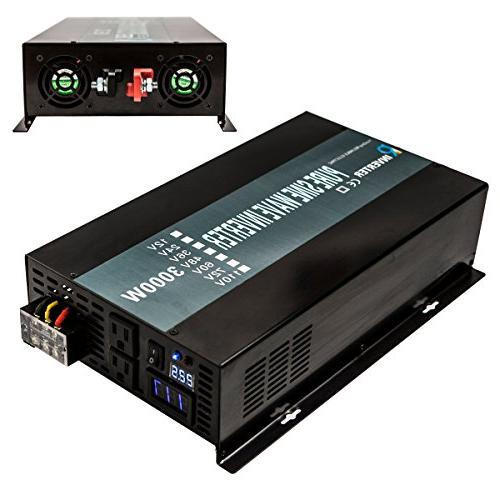 Reliable Efficiency Pure Wave Power Inverter 60Hz Display