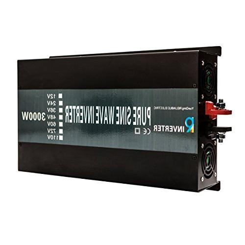 Reliable Pure Wave Power 12V 120V 60Hz LED Display