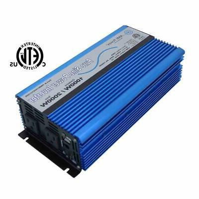 AIMS Power 1000 WATT PURE SINE INVERTER 12 VDC TO 120 VAC ET