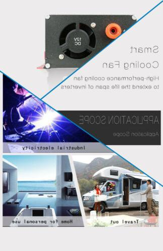 6000W DC 12V AC 220V Converter LCD