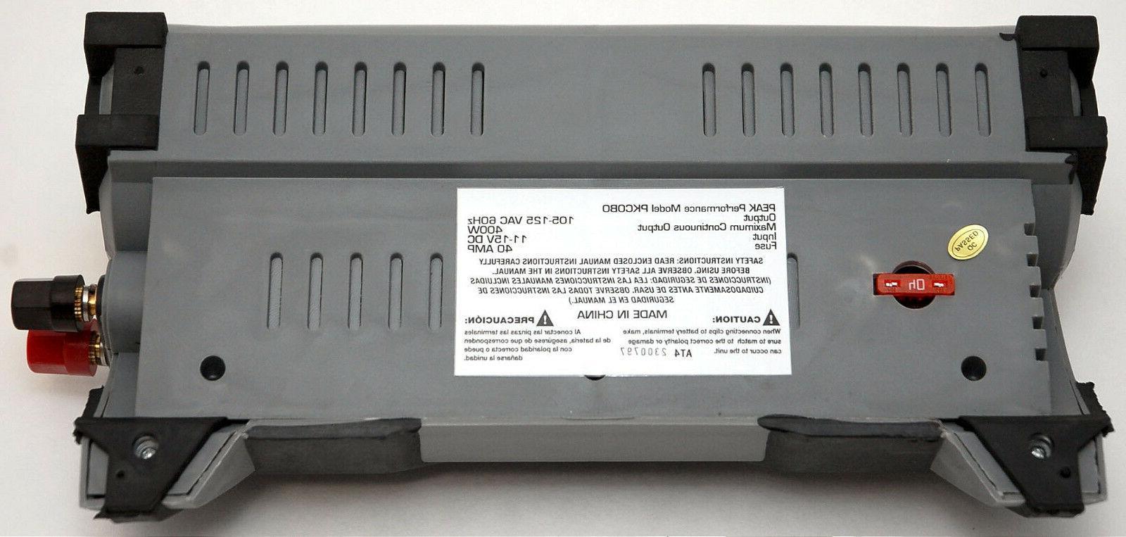 Peak Watt RV Car Portable DC 12v AC 120v Charger