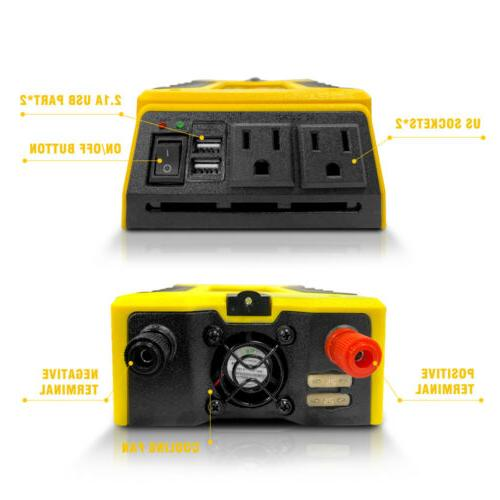 Inverter DC AC 110V USB ports Charger