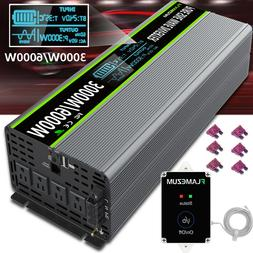 LCD Power Inverter Pure Sine Wave 24V To AC 120V 3000W 6000W