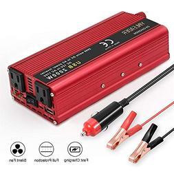 LVYUAN 800W/2000W Power Inverter DC to AC 12V to 110V Car In