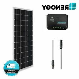 100 Watt 12V Mono Solar Panel Bundle Kit Off Grid for RV Boa
