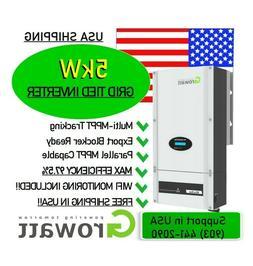 NEW 5kW 5000w 2020 Grid-Tie Growatt STRING INVERTER + WiFi +