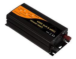 1500w /& 3000w Peak Car Power Inverter Adaptor DC12v to AC110v 60Hz with Dual 2.1A USB/&USA Socket