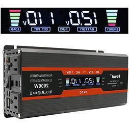 Cantonape 1000W/2000W Car Power Inverter DC 12V to 110V AC C