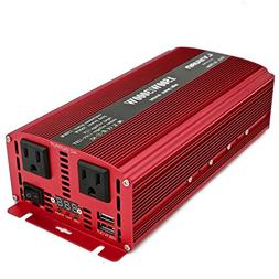 Cantonape 1500W/3000W DC 12V to 110V AC Power Inverter with
